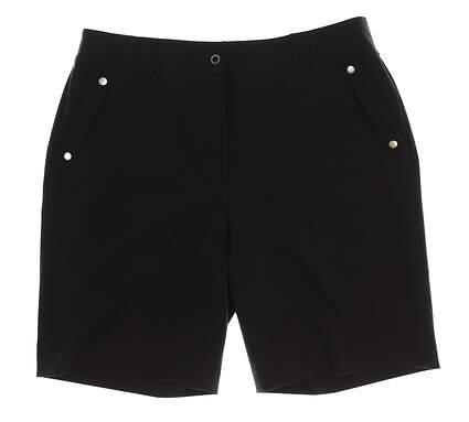 New Womens EP Pro Animal Instincts Golf Shorts Size 14 Black MSRP $74 8630BC