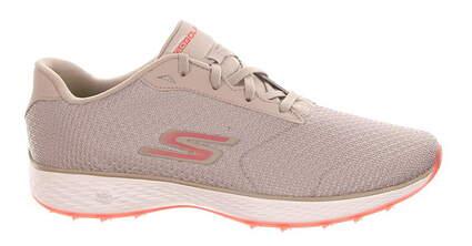 New Womens Golf Shoe Skechers Go Golf Eagle Range 10 Natural/Pink MSRP $75