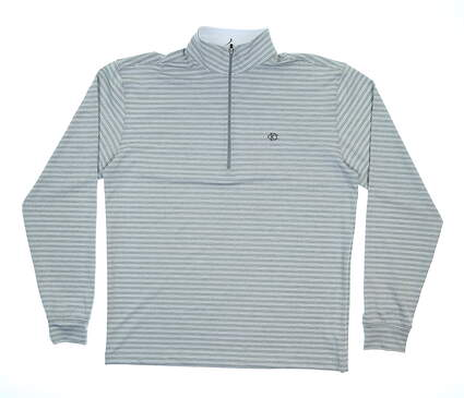 New W/ Logo Mens Straight Down Champ Performance 1/4 Zip Pullover Medium M Gray MSRP $98