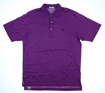 New W/ Logo Mens Peter Millar Polo Large L Enchanted Purple MSRP $89