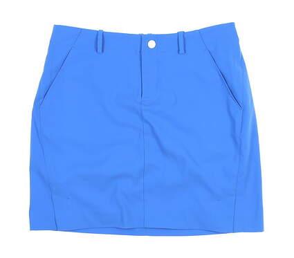 New Womens Ralph Lauren Stretch Satin Golf Skort Size 4 Blue MSRP $125 436859