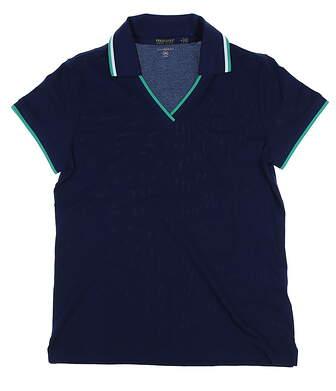 New Womens Ralph Lauren Tailored Fit Golf Polo Medium M Navy MSRP $90