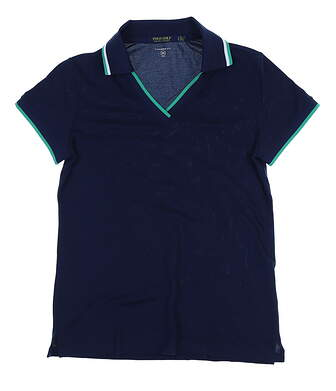 New Womens Ralph Lauren Tailored Fit Golf Polo Small S Navy MSRP $90