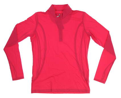 New Womens Sport Haley Sol Cool-X LS 1/4 Zip Pullover Medium M Pink Diamond MSRP $87
