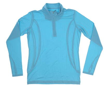 New Womens Sport Haley Sol Cool-X 1/4 Zip Pullover Medium M Aqua MSRP $87