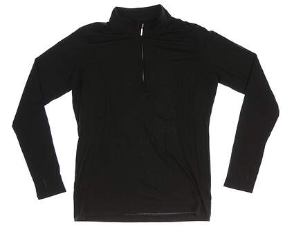 New Womens Sport Haley Sol Cool-X 1/4 Zip Pullover Medium M Black MSRP $87
