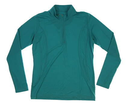 New Womens Sport Haley Sol Cool-X 1/4 Zip Pullover Medium M Jade MSRP $87