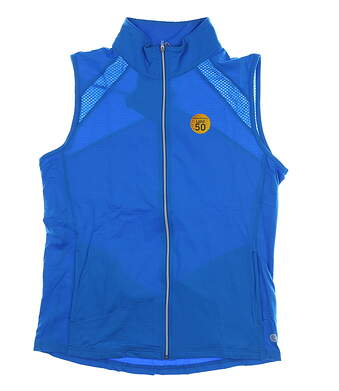New Womens BETTE & COURT Cool Elements Vest Medium M Electric Blue MSRP $72