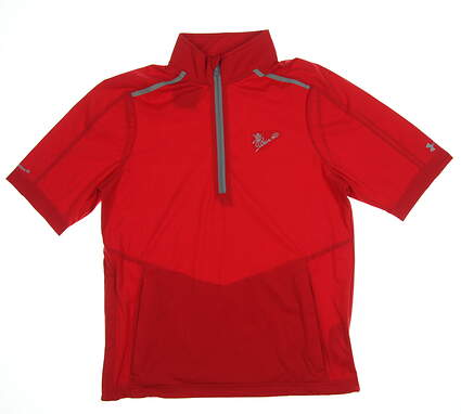 New W/ Logo Mens Under Armour Windshirt Small S Red MSRP $100 UM8111