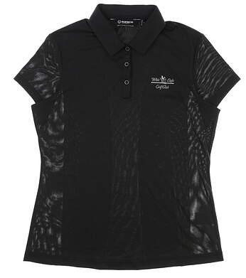 New W/ Logo Womens SUNICE Denise Body Mapping Golf Polo Medium M Black/Charcoal MSRP $74 841507