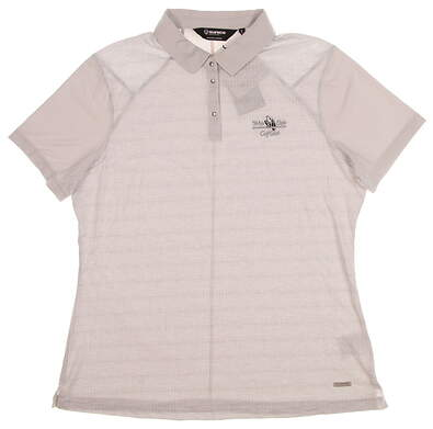 New W/ Logo Womens SUNICE Valeria Golf Polo Large L Oyster MSRP $74 841503