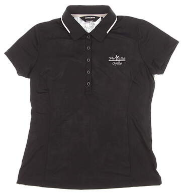 New W/ Logo Womens SUNICE Miriam Golf Polo Small S Black Serenity MSRP $74 841504