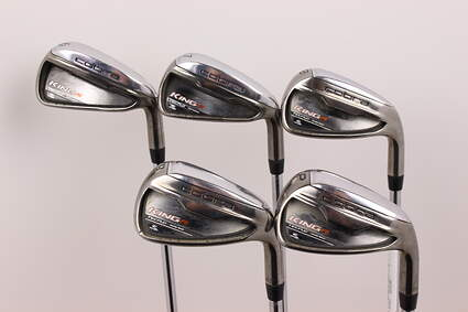 Cobra King F6 Iron Set 6-PW Stock Steel Shaft Steel Stiff Right Handed 38 in