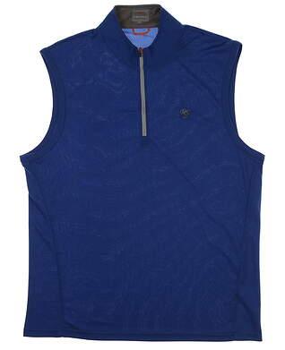 New W/ Logo Mens Fennec Solid Nomad Golf Vest Large L Byzantine MSRP $100 181F221