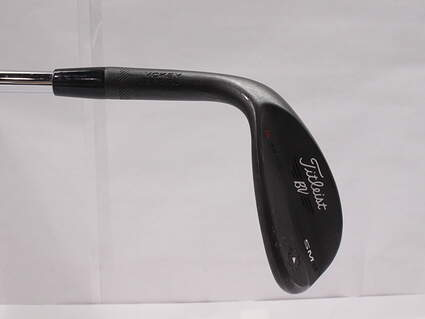 Titleist Vokey SM6 Jet Black Wedge Lob LW 58* 12 Deg Bounce K Grind SM6 BV Steel Wedge Flex Left Handed 35 in