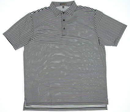 New Mens Peter Millar Tygra Stripe Polo X-Large XL Black/White MSRP $99
