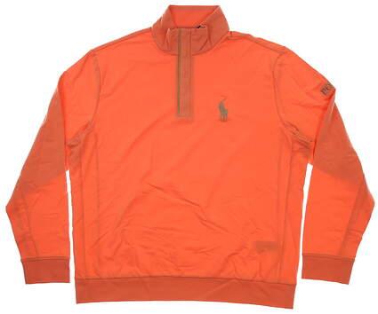 New Mens Ralph Lauren Polo Golf 1/4 Zip Sweater X-Large XL Orange MSRP $174