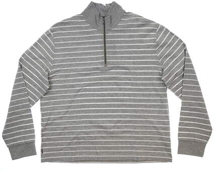 New Mens Ralph Lauren Polo Golf Stripe Jacquard 1/4 Zip Pullover X-Large XL Gray MSRP $206