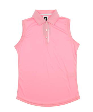 New Womens Footjoy Solid Interlock Sleeveless Polo X-Small XS Pink MSRP $65
