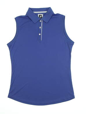 New Womens Footjoy Solid Interlock Sleeveless Polo Small S Periwinkle MSRP $65