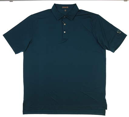 New W/ Logo Mens Peter Millar Golf Polo X-Large XL Blue MSRP $75 MS18EK01S
