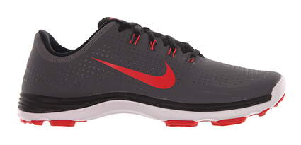 New Mens Golf Shoe Nike Lunar Cypress 9.5 Dark Gray/Lt Crimson MSRP $230