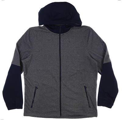 New Mens Under Armour ColdGear Hooded Jacket Large L Navy Blue MSRP $84