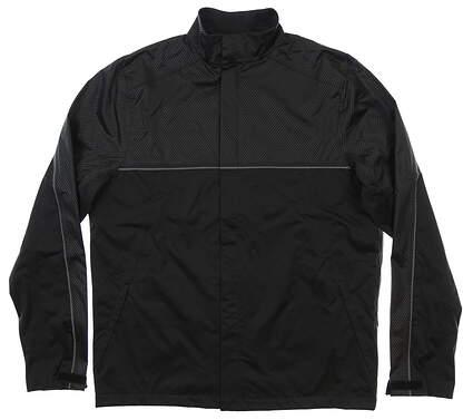 New Mens Under Armour Storm Proof Rain Jacket Large L Black MSRP $100