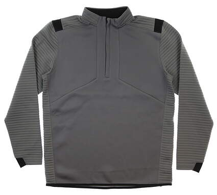 New Mens Under Armour Storm 1/2 Zip Golf Pullover Large L Gray/Black MSRP $85