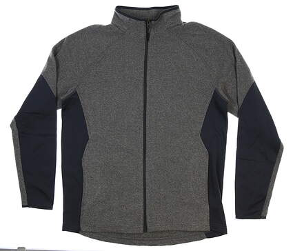 New Mens Under Armour Full Zip Mock Neck Large L Gray MSRP $80