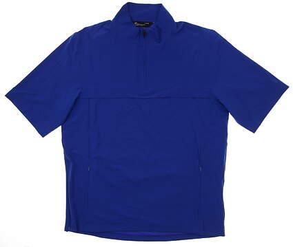 New Mens Under Armour Short Sleeve Golf Wind Jacket Large L Blue MSRP $85