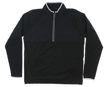 New Mens Under Armour Storm 1/2 Zip Golf Pullover Large L Black MSRP $85