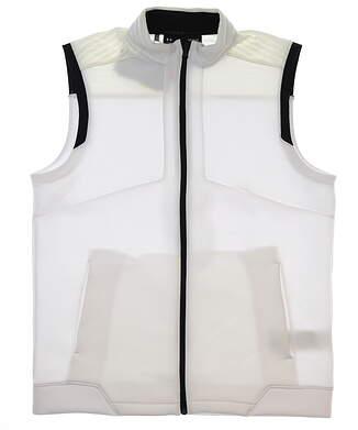 New Mens Under Armour Storm Golf Vest Large L White/Black MSRP $85