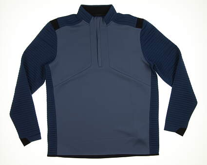 New Mens Under Armour Storm 1/2 Zip Golf Pullover Large L Blue MSRP $85