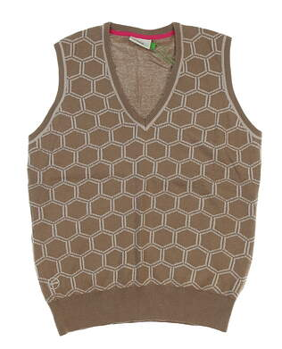 New Womens Daily Sports Ellen Slipover Vest Large L Bark Brown MSRP $105