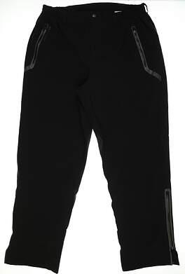 New Mens Sun Mountain Stormtight Rain Pants Size XX-Large XXL Black MSRP $260