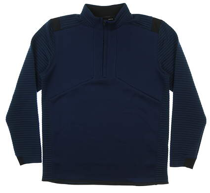 New Mens Under Armour Storm 1/2 Zip Golf Pullover Large L Navy Blue MSRP $85