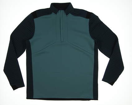 New Mens Under Armour Storm 1/2 Zip Golf Pullover Large L Green/Dark Green MSRP $85