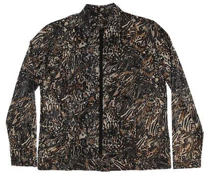 New Womens Sport Haley Print Jacket Large L Multi MSRP $130