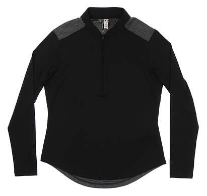 New Womens Under Armour 1/4 Zip Golf Pullover Medium M Black/Gray MSRP $70