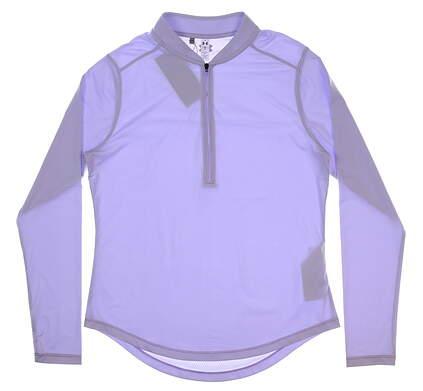 New Womens Under Armour 1/4 Zip Golf Pullover Medium M Salt Purple MSRP $70 UW1229