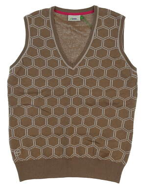 New Womens Daily Sports Ellen Slipover Vest Medium M Bark Brown MSRP $165
