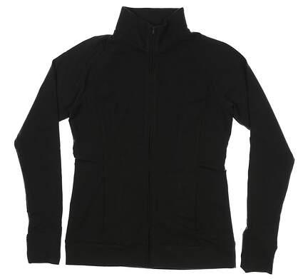 New Womens Under Armour Full Zip Golf Mock Neck Medium M Gray MSRP $80