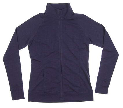 New Womens Under Armour Full Zip Golf Mock Neck Medium M Purple MSRP $80 UW1247