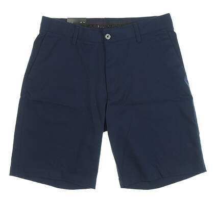 """New Mens Under Armour 10"""" Inseam Golf Shorts Size 34 Navy Blue MSRP $65"""