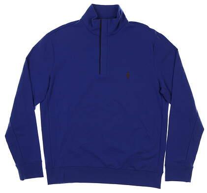 New Mens Ralph Lauren 1/4 Zip Pullover Medium M Blue MSRP $120