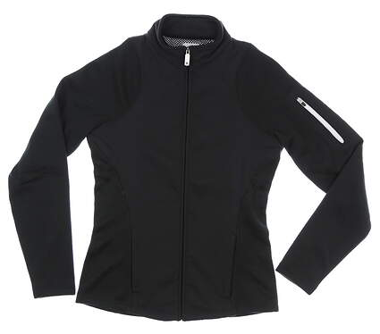 New Womens Footjoy Full Zip Knit Woven Jacket X-Small XS Black MSRP $135 27516