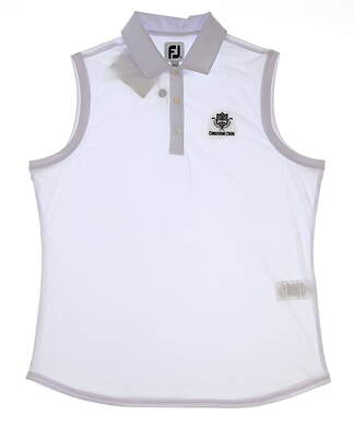 New W/ Logo Womens Footjoy Golf Sleeveless Polo X-Large XL White MSRP $69