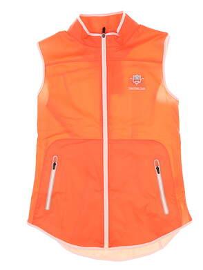 New W/ Logo Womens Footjoy SoftShell Vest Small S Orange/White MSRP $140