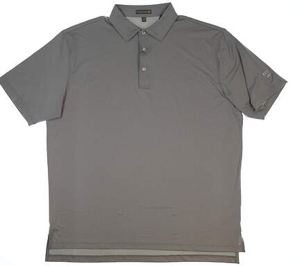 New W/ Logo Mens Peter Millar Golf Polo X-Large XL Gray MSRP $79 MS18EK01S